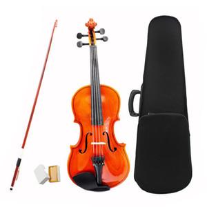 Tamaño 1/2 Violín de cuerdas de acero de violín natural arco para niños principiantes