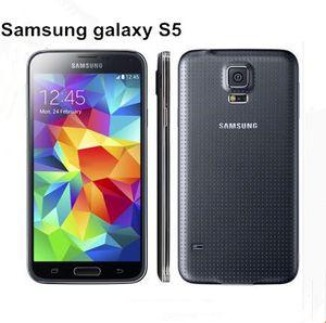 Оригинал SAMSUNG Galaxy S5 I9600 G900A / G900T / G900V / G900P / G900F разблокирована Восстановленное 3G4G 16MP Камера GPS WIFI Android отремонтированный телефон