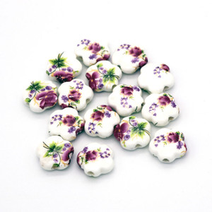 200pcs lot Ceramic Beads DIY Flat Porcelain Bead 6mm Hole Spacer Beads For Jewelry Making Wholesale