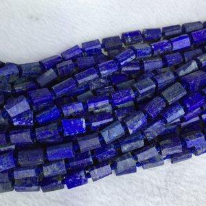 Doğal Hakiki Ham Mineral Koyu Mavi Lapis Lazuli Külçe Ücretsiz Formu Gevşek Kaba Mat Faceted Boncuk 6-8mm 05376