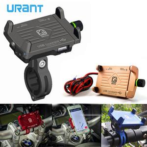 URANT Telefon Tutucu Mobil Destek Motosiklet Şarj USB Şarj Bisiklet Tutucu iphone X 8 7 Artı S8 S9 Xiaomi Redmi için 4X C18110801