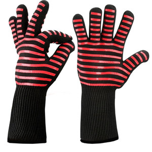 2pcs lot Food Grade Heat Resistant Silicone Kitchen Barbecue Oven Glove Cooking Bbq Grill Glove Oven Mitt Baking Glove