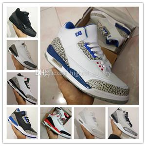 Nuove scarpe 3s bianco cemento nero a infrarossi 23 lupo grigio mens scarpe da basket scarpe da ginnastica per uomo sportivo designer di buona qualità Versione taglia 8-13