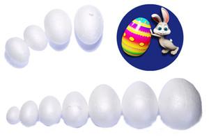 New Design120pcs 7cm / 2 .75inch forma di uovo Schiuma palla usata bianco polistirolo Rendere prodotto per Pasqua / nozze accessori decorativi