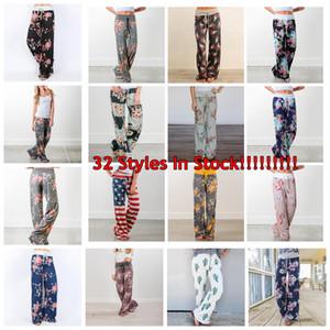Mulheres Floral Yoga Palazzo Calças 38 Estilos de Verão calças perna larga solto Esporte Harem Pants Boho calças compridas Jogging Roupa 6pcs OOA5197