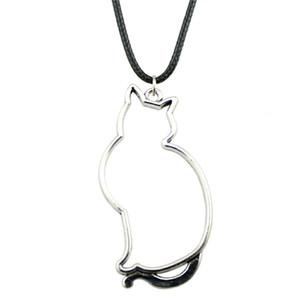 WYSIWYG 5 шт. кожа цепи ожерелья подвески колье воротник старинные ожерелье ручной работы полые Cat 53x27mm N6-B12304