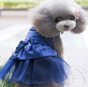 Cute 2018 New Summer Pet Puppy Small Dog Cat Denim Skirt Dress Apparel Costume Clothes for Chihuahua Wholesaling