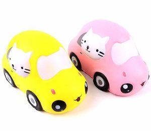 Kawaii Chat Voiture Jouets Squishy Super Doux Ralentissant Jumbo Squeeze Téléphone Charmes Anti-Stress Enfants Cadeau