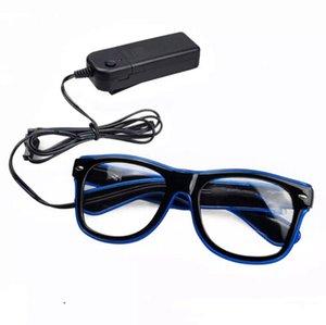 Artículo al por mayor LED Gafas de fiesta Moda EL Alambre gafas Cumpleaños Fiesta de Halloween Bar Decorativo proveedor Luminous Glasses Eyewear 20pcs
