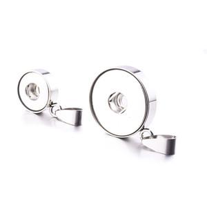 NOOSA Acero inoxidable 12 mm 18 mm Botón de ajuste de la base Charms colgantes para bricolaje Botón Snap Pendientes Collar Pulsera Joyería