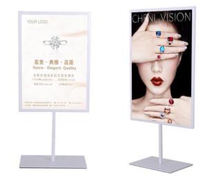 Promoción caliente de alta calidad del cartel del soporte de doble cara A3A4 muestra de la tabla del café del metal que hace publicidad del soporte de exhibición del escritorio