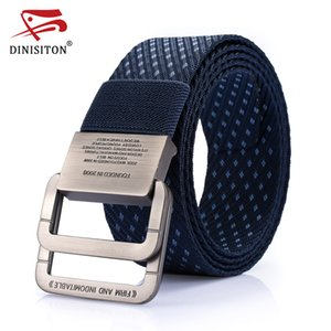 DINISITON Canvas Tactical Belt Brand Men High Quality Military Belts For Mens & Women Waist Nylon Belt Casual Equipment Strap