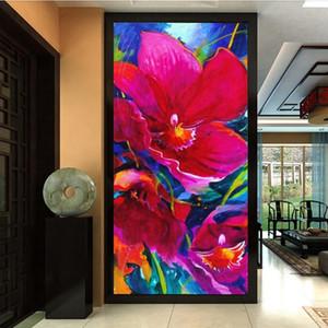 Avrupa Modern 3D giriş koridor Arka Plan Duvar Kağıdı Soyut sanat Oturma Odası Yatak Odası Şam Çiçek Duvar Kağıdı Masaüstü Deko ...
