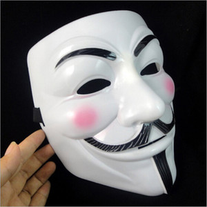 V Mask Masquerade Masks For Vendetta Anonymous Valentine Ball Party Decoration Full Face Halloween Super Scary Party Mask Gifts HH7-420