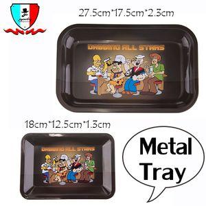 Rolling Tray Metall Tablett tupfend alle Sterne Tabletts mit zwei Größen S / L Größe Metall Palette mit niedlichen Stil für Rauchen Zubehör
