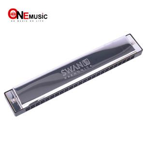 Swan SW24-4 Tremolo Armonica 24 Fori 48 toni C Chiave Con La Scatola Nera