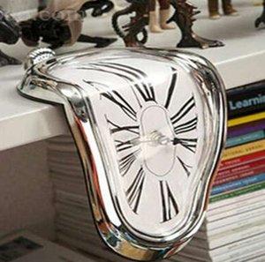 Nuevo reloj de pared distorsionado de fusión surrealista Reloj de pared de estilo surrealista Salvador Dali increíble regalo de decoración del hogar