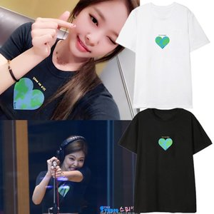 kpop BlackPink gleichen Absatz Jennie Student Liebe Herz T-Shirt Damen Kurzarm Sommer Wild BlackPink 2018 neu