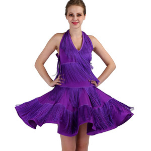 Erwachsene / Kinder Quaste Latin Dance Kleid Frauen Mädchen / Lady Cha Cha / Rumba / Samba / Tango / Ballroom Dance Rock Latin Performance Wear