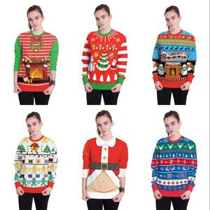 Güzel Çorap Bells Santa Clause Desenler Giyim Lüks Tasarımcı Baskılı Kazak Merry Christmas Renk Giysileri Sıcak Satış 32rx Ww
