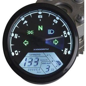 ZOOKOTO MPH / KMH 124MPH / 199 kmsaat 12000 rpm LCD Dijital Kilometre Takometre Kilometre sayacı 4 inme 1/2/4 Silindirler için Motosiklet