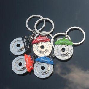 جديد السيارات الفرامل تدور قرص الفرامل الفرجار شكل وسادة مفتاح سلسلة المفاتيح حلقة رئيسية السيارات اكسسوارات السيارات