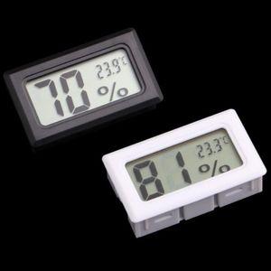 مصغرة الرقمية lcd المدمجة الحرارة الرطوبة الرطوبة متر داخلي ترمومتر أسود أبيض LX4062