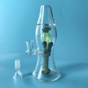 Lava Lamp Glass Bottle Bongs Small Water Pipe Colored Glass Water Bong 14.5mm Female Joint Oil Dab Rig With Glass Bowl