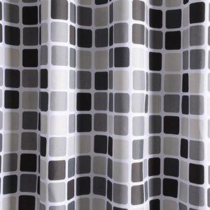 Eco Friendly wasserdichter Duschvorhang mit 12 Haken Mosaik Printed Badezimmer Polyester Vorhänge Badewanne Bade für Hauptdekoration