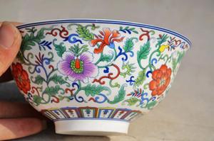 Ciotola cinese squisita dei fiori di lavoro manuale della porcellana di Famille Rose Trasporto libero