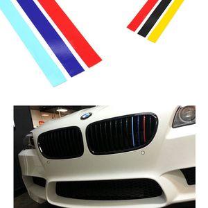 Ücretsiz Kargo 20x0.5 cm M SPOR 3 RENK Araba styling Ön Yansıtıcı STRIP ÇıKARTMASı VINIL KIDNEY GRILLE STICKER IÇIN BMW