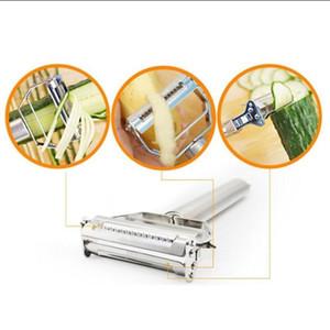 Edelstahl-Kartoffel-Gurke-Karotten-Reibe Julienne-Schäler-Gemüse-Frucht-Schäler-doppelte Planierreibe-Küche, die Werkzeuge kocht