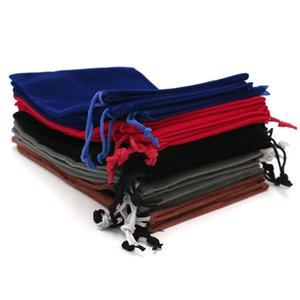 ¡Venta al por mayor! 50 PC / porción 13x18cm Coloful terciopelo bolsa bolsa de la joyería del grano de embalaje de almacenamiento de visualización con cordón de embalaje bolsas de regalo bolsas