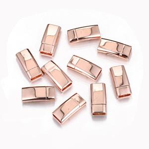 50 UNIDS 25x11.5mm Al Por Mayor de Aleación De Cobre Rosegold Color Plata Negro Cierres Magnéticos Conectores Cuadrados de La Joyería para la Joyería Hallazgos DIY