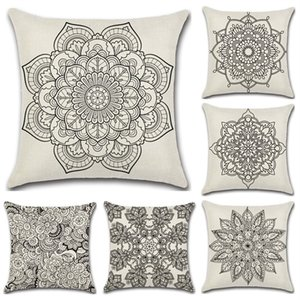 Paisley Bohemia Style Cushion Covers Geometric Printing Ethnic Flax Throw Pillow Case Sofa Car Seat Home Decorative 4 8kh Y