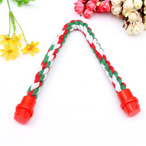 Cotton Parrot Rope Perch Stand Bar per tutte le gabbie Mouse Rat Bird Cat Hamster Toys all'ingrosso