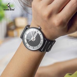 BOBO BIRD Relógios Men Quartz Madeira Strap Watch Ladies Relógios relogio masculino artigos do presente V-Q23 GOTA DE ENVIO