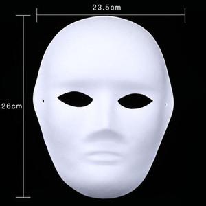 300 pcs Branco Pintados à Mão Máscaras Máscara Facial Cheia de Halloween Em Branco Papel DIY Mulheres Homens Pulp Mask Presentes da Festa de Natal ZA4618