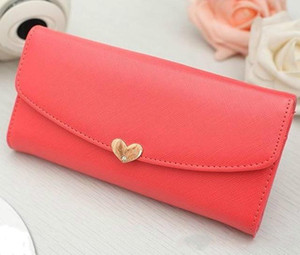 Cute Love Long Wallet para mujeres Female Purse Women Wallet Pouch Portefeuille