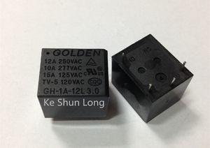 Ücretsiz kargo (10pieces / lot)% 100 Orijinal Yeni GH-1A-5L GH-1A-12L GH-1A-24L 4PINS 15A 5VDC 12VDC 24VDC Güç Röle