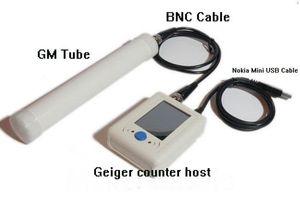 Contatori Contatore Geiger Digital radiazioni nucleari Meter Detector Radioactive particella + Nokia Mini USB del tubo cavo + Cavo BNC + GM