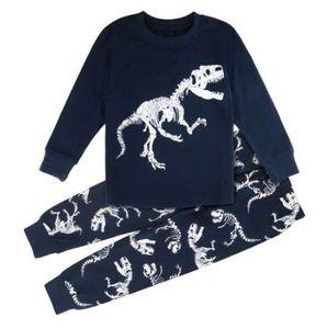 Bambini Pigiama Per Ragazzi Pigiama di dinosauro Motociclo Bambino Indumenti da notte Per bambini Vestito domestico Abbigliamento da interno Natale Pijama Set di abbigliamento