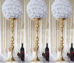 زهور الزفاف الكرة الذهب ارتفع الحرير قبلة الكرة الوقوف لحفل زفاف الديكور المركزية احتفالي لوازم best0334