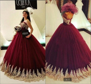 Sweetheart Lace Ball Gown Quinceanera Dresses 2018 Tulle Lace Applique Sweet 16 Party Prom Evening Gowns BA9375