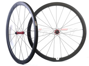 EVO 700C الطريق دراجة العجلات 38MM عمق 25MM عرض 25MM الفاصلة / أنبوبي مع UD ماتي الانتهاء من الكربون العجلات مع عمود 1432/1423 تكلم