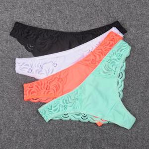Yeni Dantel Bikini Külot Külot Iç Çamaşırı Kadın Kadınlar Için Seksi Lingeries Mini Dantel Geri Tanga Tanga ile Ipek Ön G-string