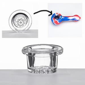 Замените стеклянную чашу силиконовая труба стеклянная чаша fit силиконовые руки трубы курительные трубы аксессуары высокая боросиликатного стекла чаша