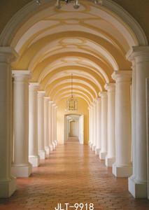 Palazzo corridoio fondali fotografia pilastro porta ad arco foto tessuto di vinile impegno sfondo di nozze per la foto in studio