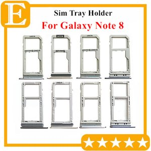 100% New Double Sim Micro SD Memory Card Tray Holder Slot For Samsung Galaxy Note 8 N950 Dual Single Sim Tray 10PCS