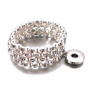 3 fila di strass elastico 156 Bangle Stretch cristallo 18mm con bottone a pressione braccialetto Bangle Fit partito Prom Sposa gioielli da sposa